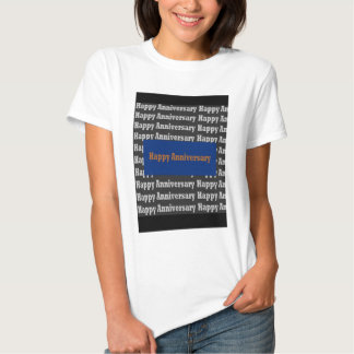 Happy Anniversary  Blue Gold White Black GIFTS Tee Shirts