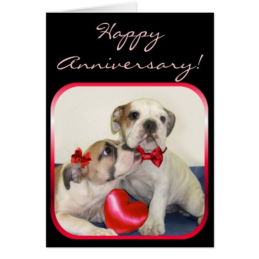 Happy Anniversary Bulldogs greeting card | Zazzle