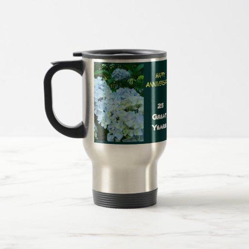 Happy Anniversary! Coffee Mug gifts 25 Great Years