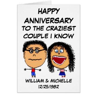 Happy Anniversary Crazy Couple Card