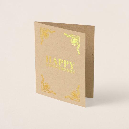 Happy Anniversary Foil Card
