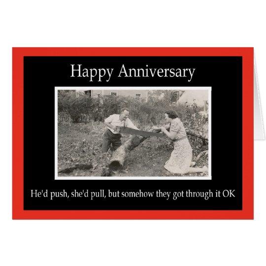 Happy Anniversary - FUNNY Card