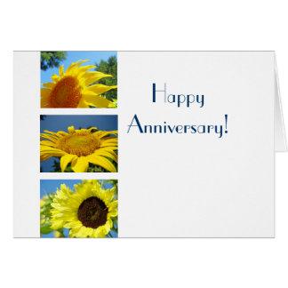 Happy Anniversary! greeting cards Yellow Sunflower