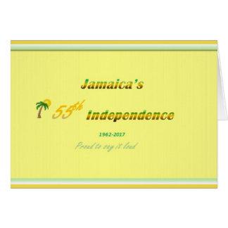Happy Anniversary Jamaica 55th Card
