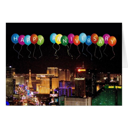 HAPPY ANNIVERSARY LAS VEGAS CARD