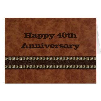 Happy Anniversary Leather Card