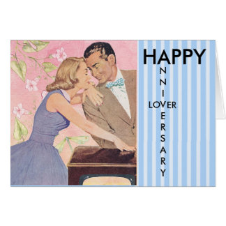Happy Anniversary Lover, Vintage Couple Card