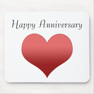 Happy Anniversary Mouse Mat