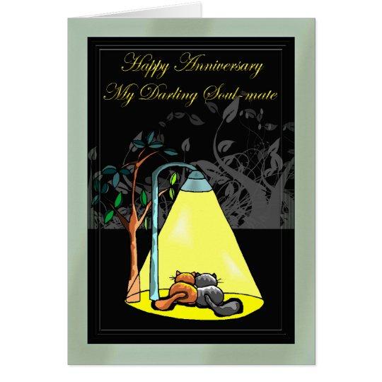 Happy anniversary my darling Soul-mate Card