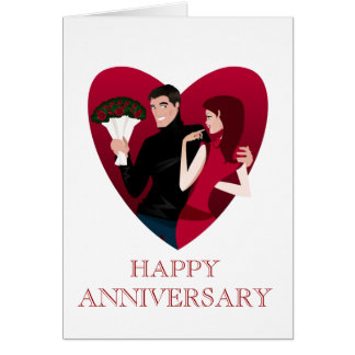 HAPPY ANNIVERSARY NOTE CARD
