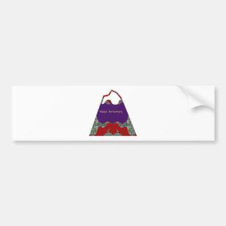 Happy Anniversary - Oriental Art Emotional Touch Bumper Sticker