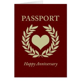happy anniversary passport greeting cards