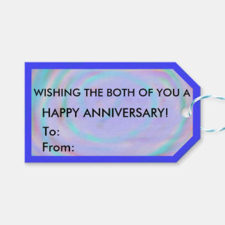 Happy Anniversary Rainbow Swirl Gift Tag