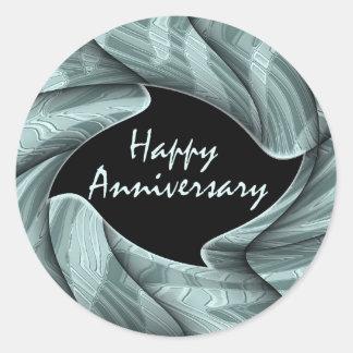 Happy Anniversary Round Sticker