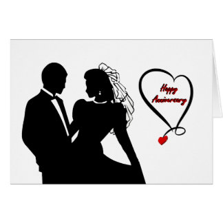 Happy Anniversary - Softly Red Formal Card