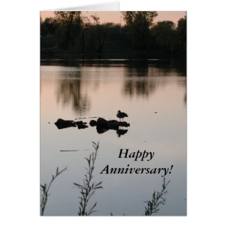 Happy Anniversary Sunset Card by Janz