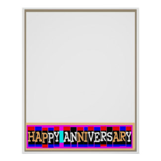 HAPPY Anniversary - Template Add Photo n Surprise Poster