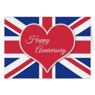 Happy Anniversary to British Parents Greeting Card