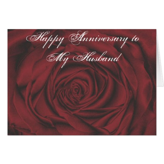 Happy Anniversary to My Husband Card