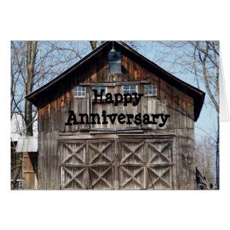 Happy Anniversary Weatherd Barn Card