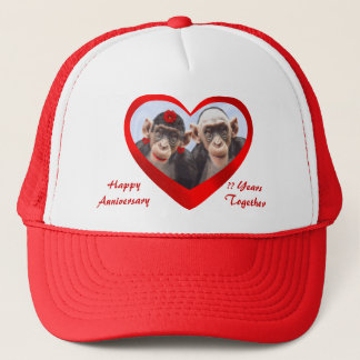 HAPPY ANNIVERSARY ?? YEARS TOGRTHER-HAT TRUCKER HAT