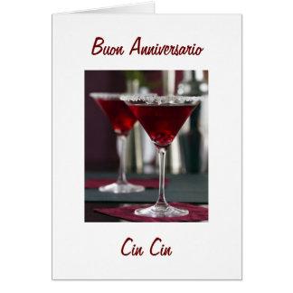 HAPPY ANNIVERSAY IN ITALIAN BUON ANNIVERSARIO CARD