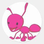 Happy Ant Round Sticker