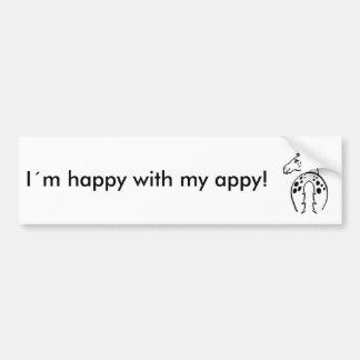 Happy Appy Car Bumper Sticker