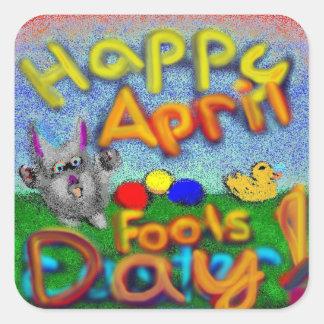 Happy April Fools Day stickers Square Sticker