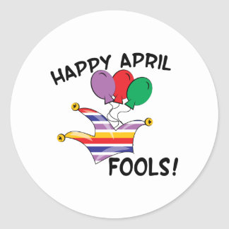 Happy April Fools Round Sticker