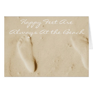 Happy are always at the beach ~ OceanLife Ensemble Stationery Note Card