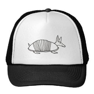 Happy Armadillo unique whimsical line drawing art Trucker Hat