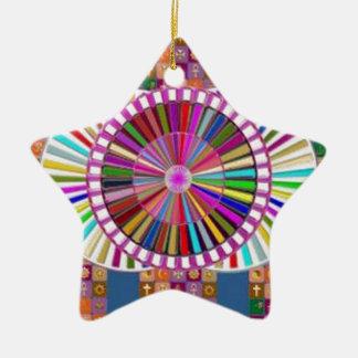 HAPPY ART:  CHRISTMAS HOLIDAYS FESTIVALS CERAMIC STAR DECORATION