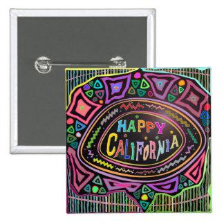 """Happy Art: """"Happy California"""" Button"""