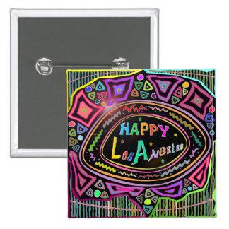 """Happy Art: """"Happy Los Angeles"""" Button"""