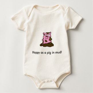 Happy as a pig in mud! baby bodysuits