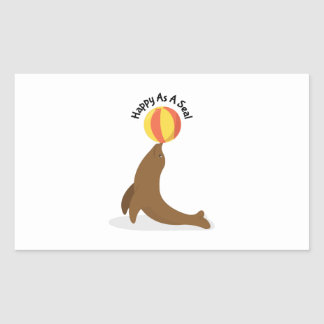 Happy As Seal Rectangular Sticker