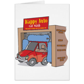 Happy Auto Car Wash Greeting Cards