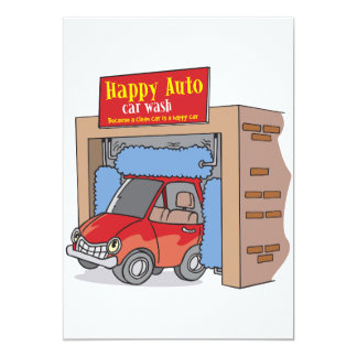 Happy Auto Car Wash Invitations