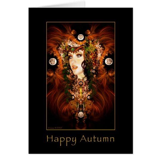 Happy Autumn - Autumn Goddess Card