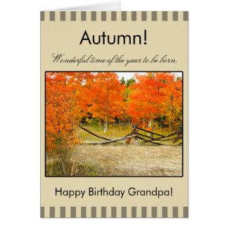 Happy Autumn Birthday Grandpa, Colorado Aspens Greeting Card