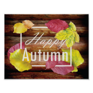Happy Autumn design Poster