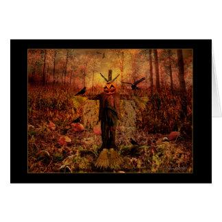 Happy Autumn - Harvest Scarecrow Card
