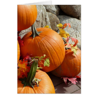 Happy Autumn Pumpkin Card