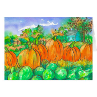 Happy Autumn Season Pumpkin Patch Card