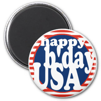 Happy B day USA Magnets