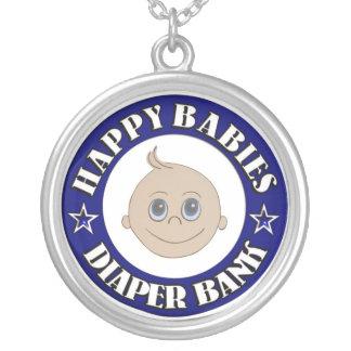 Happy Babies Diaper Bank Round Pendant Necklace