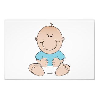 Happy baby cartoon photographic print