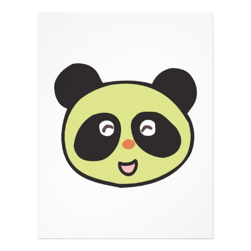 happy baby panda face full color flyer