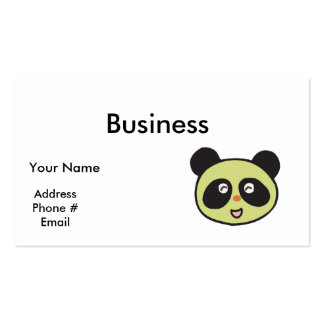 happy baby panda face pack of standard business cards